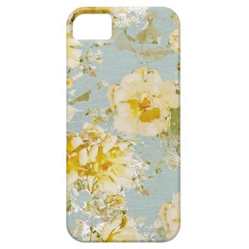 fleurs bleues vintages de coque iphone coque Case-Mate iPhone 5