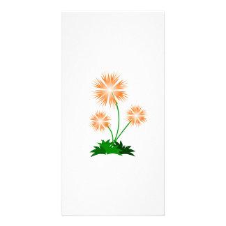 Fleurs Cartes De Vœux Avec Photo
