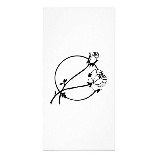 Fleurs Modèle Pour Photocarte