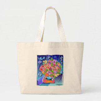 fleurs dans un vase 2 sac en toile