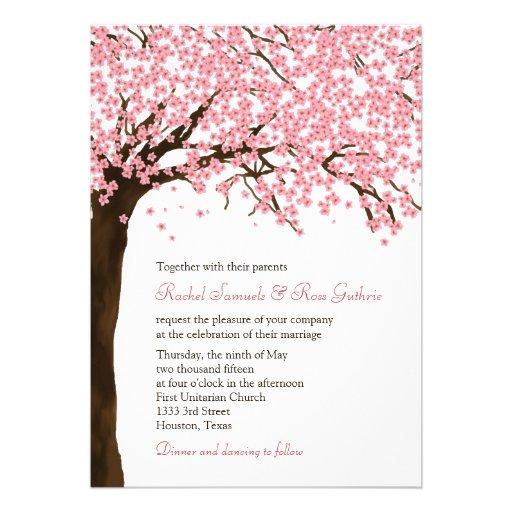 Fleurs de cerisier/mariage aquarelle de Sakura Bristols Personnalisés