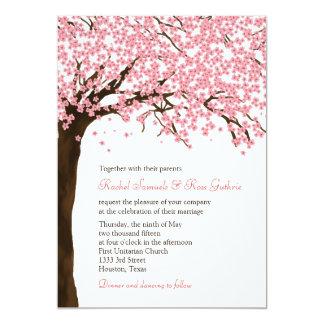 Fleurs de cerisier/mariage aquarelle de Sakura Carton D'invitation 12,7 Cm X 17,78 Cm