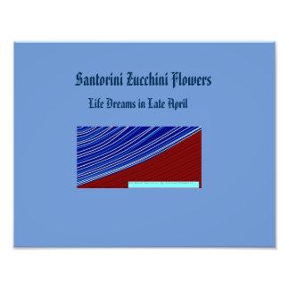 fleurs de courgette de santorini tirage photo