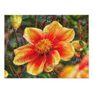 Fleurs de DeepDream Photo D'art
