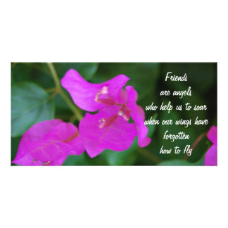 Fleurs de pourpre d'amis photocartes