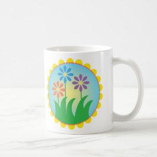 Fleurs de ressort mug blanc