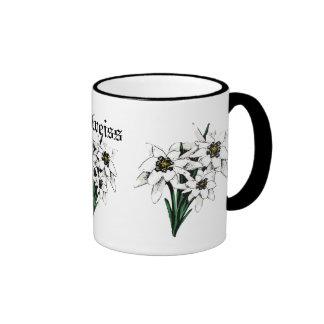 Fleurs d'edelweiss mug ringer