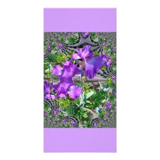 Fleurs d'iris modèle pour photocarte