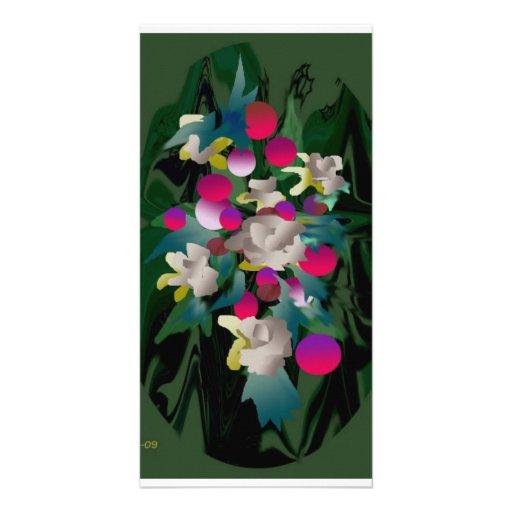 fleurs en fleur photocarte personnalisée