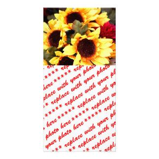 Fleurs jaunes de métier photocarte customisée