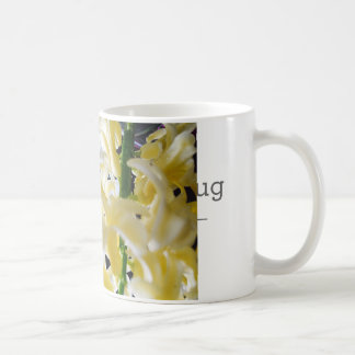 Fleurs jaunes mug blanc
