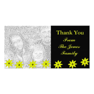 Fleurs jaunes photocartes