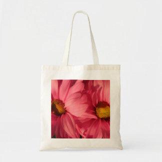 Fleurs jumelles sac en toile budget