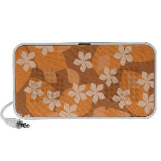 Fleurs oranges. Rétro modèle floral Haut-parleur iPhone
