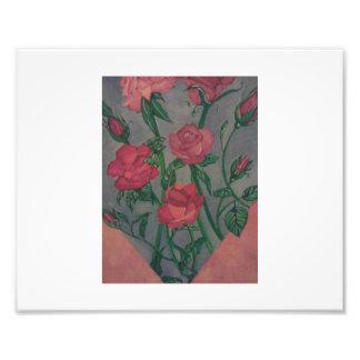 Fleurs peintes impressions photographiques