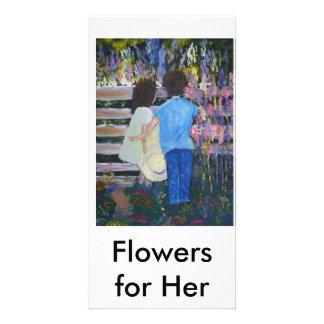 Fleurs pour elle (1), fleurs pour elle cartes avec photo