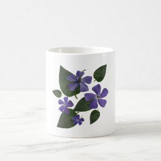 fleurs pourpres mug blanc