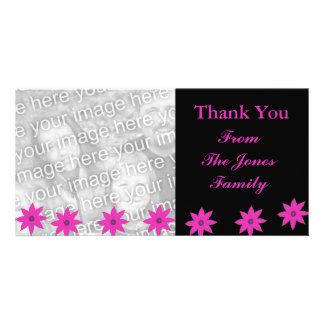 fleurs roses modèle pour photocarte