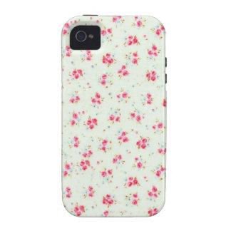 Fleurs roses chics minables florales vintages de r étui iPhone 4