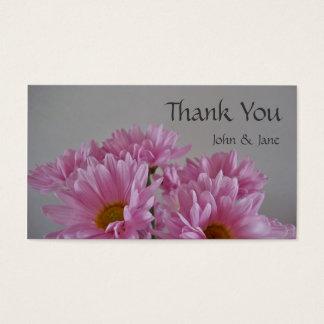 Fleurs roses épousant le carte de remerciements