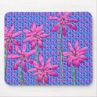 Fleurs roses tapis de souris