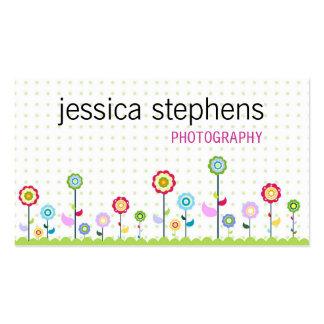 Fleurs, simplistes carte de visite standard