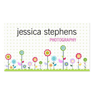 Fleurs, simplistes cartes de visite personnelles