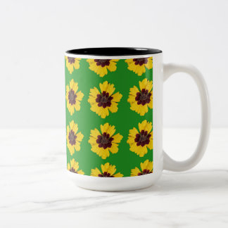 fleurs mug bicolore