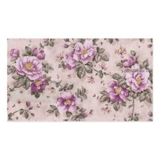 Fleurs vintages carte de visite standard