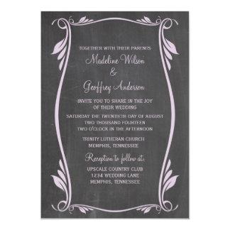 Flieder blühen Tafel-Hochzeit einladen 12,7 X 17,8 Cm Einladungskarte