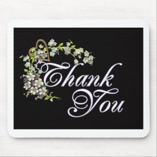 Flieder danken Ihnen auf Schwarzem Mousepad