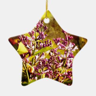 Flieder Keramik Stern-Ornament