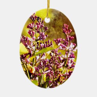 Flieder Ovales Keramik Ornament