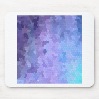 Flieder u. Lavendel durch beflecktes Glas Mousepad