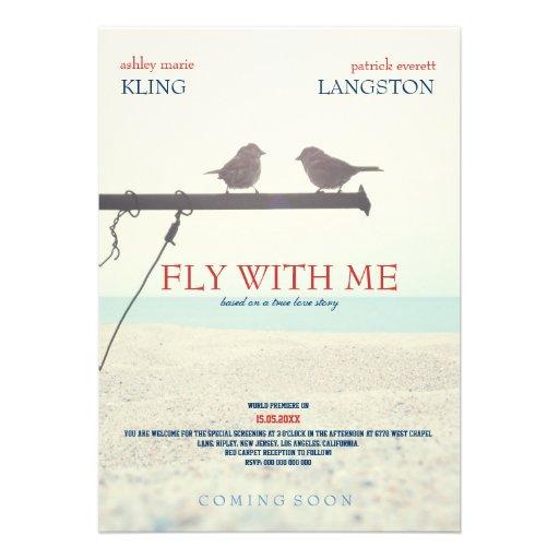 Fliege mit mir - Hochzeits-Einladung