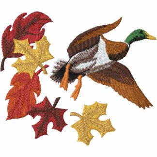 Fliegen-Ente und Herbstlaub