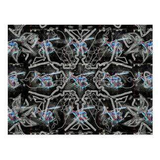 Fliegen entworfen postkarte