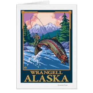 Fliegen-Fischen-Szene - Wrangell, Alaska Karte