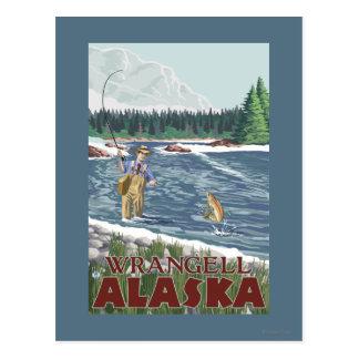 Fliegen-Fischer - Wrangell, Alaska Postkarte