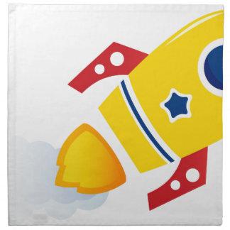 Fliegen-Goldrakete: Kreative Ausgabe Stoffserviette