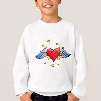 Fliegen-Herz Sweatshirt