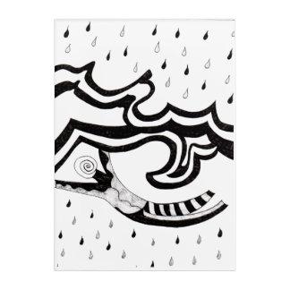 Fliegen-Mann Acryl Wandkunst