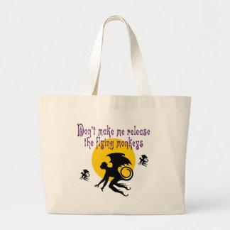 Fliegen Monkeys Taschen-Tasche Jumbo Stoffbeutel