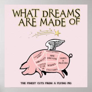 Fliegen-Schwein, Schnitt-Was träumt, werden von Poster