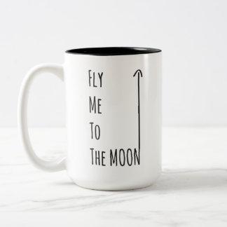 Fliegen Sie mich zum Mond - die Gluten-freie Zweifarbige Tasse