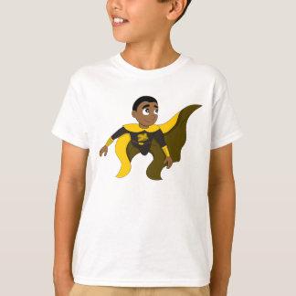 Fliegen Superhero-Jungen-Cartoon T-Shirt