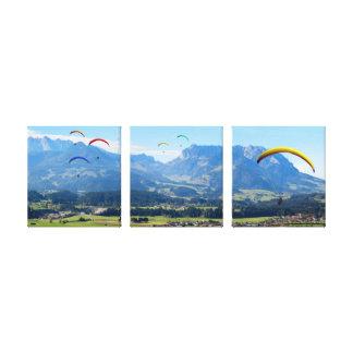 Fliegen über das Tal - Triptychon Gespannte Galeriedrucke