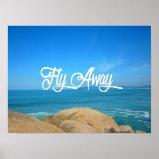 Fliegen-wegFahrzeit Poster