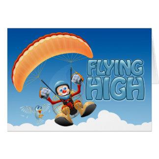 Fliegende hohe Paramotor Karte
