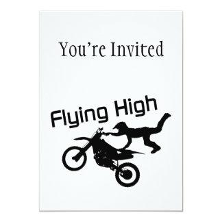 Fliegende hohe Schmutz-Fahrrad-Bremsung Karte
